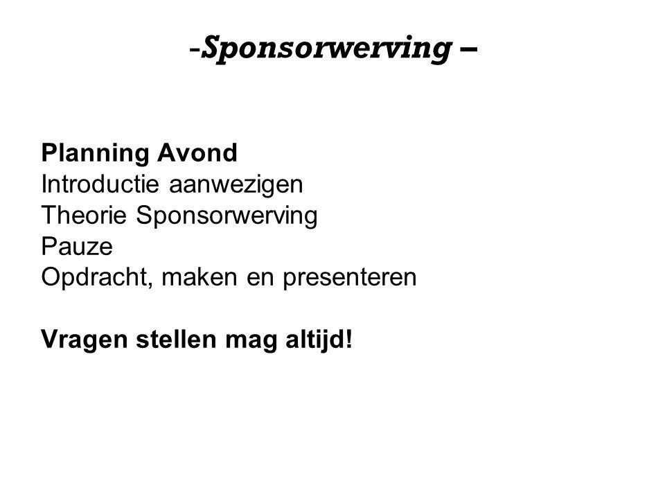 -Sponsorwerving – Waar letten bedrijven op bij de keuze van een sponsorproject.
