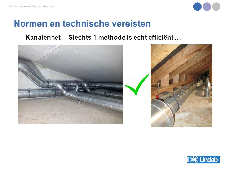 lindab | we simplify construction Kanalennet Slechts 1 methode is echt efficiënt ….