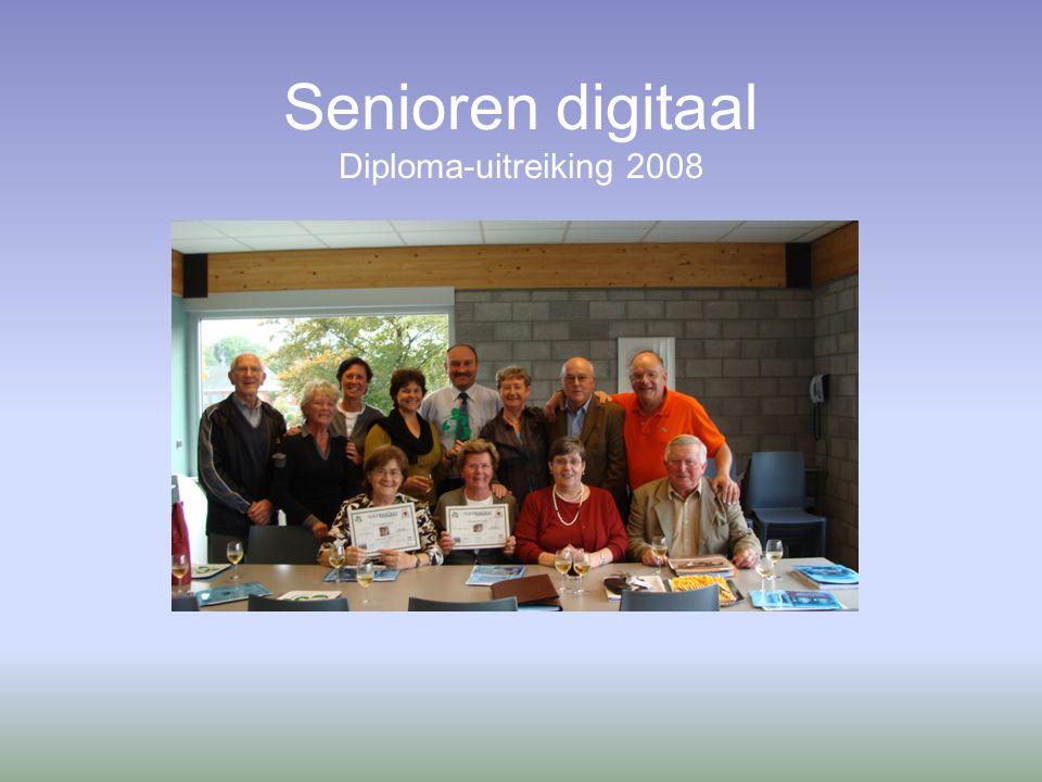 Senioren digitaal Diploma-uitreiking 2008