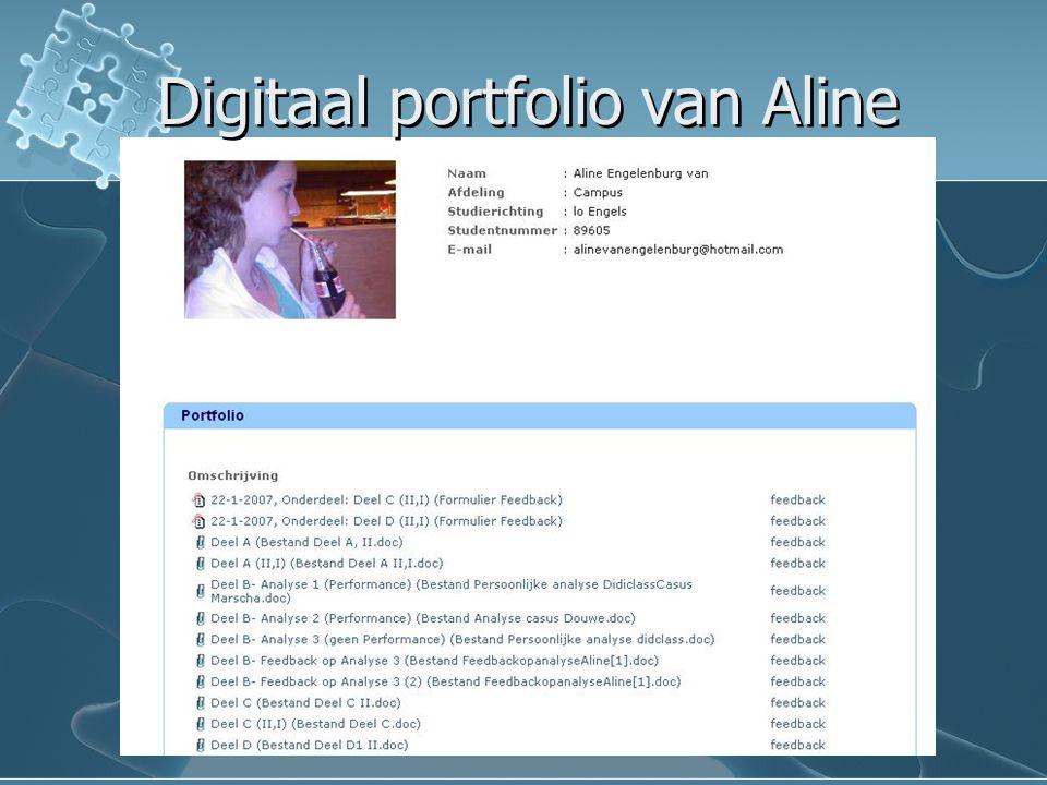 Digitaal portfolio van Aline