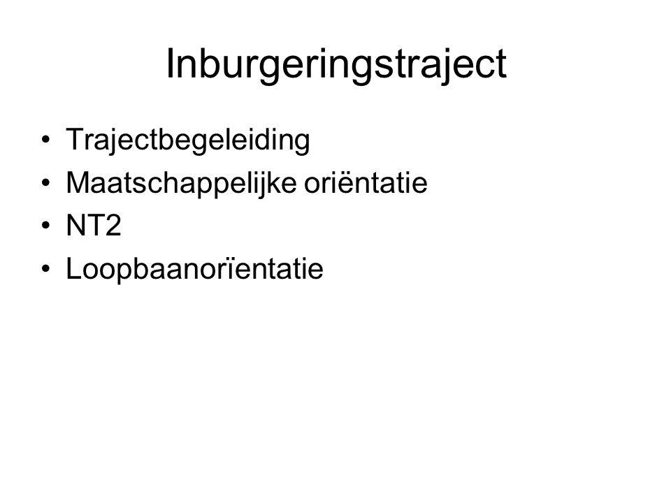 Inburgeringstraject Trajectbegeleiding Maatschappelijke oriëntatie NT2 Loopbaanorïentatie
