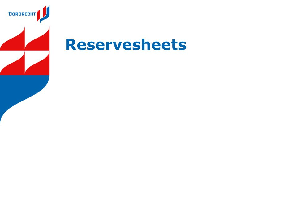 Reservesheets