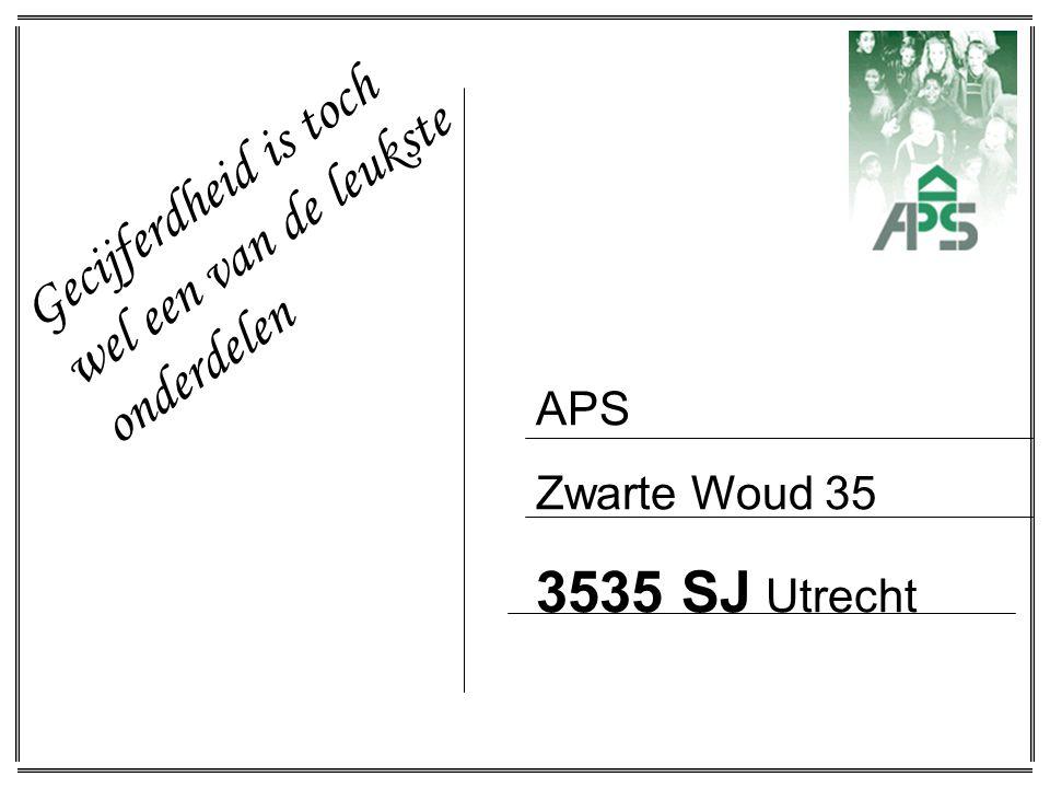 APS Zwarte Woud 35 3535 SJ Utrecht Gecijferdheid is toch wel een van de leukste onderdelen