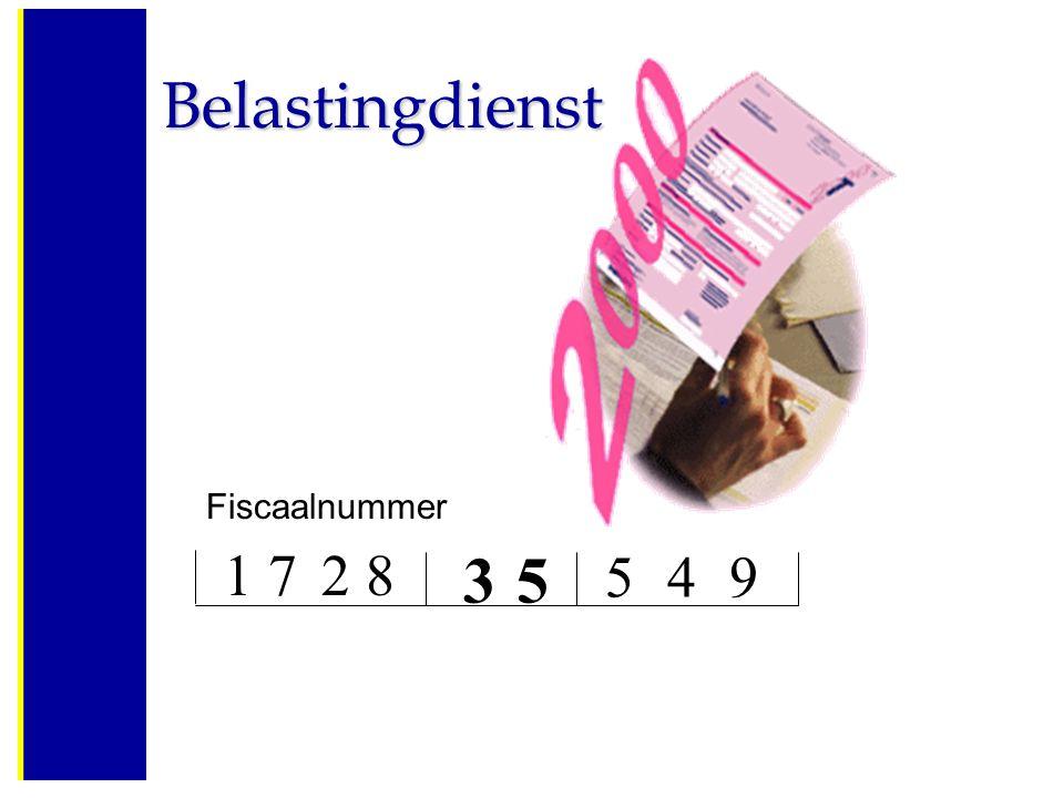 Fiscaalnummer 1728 35 549 Belastingdienst