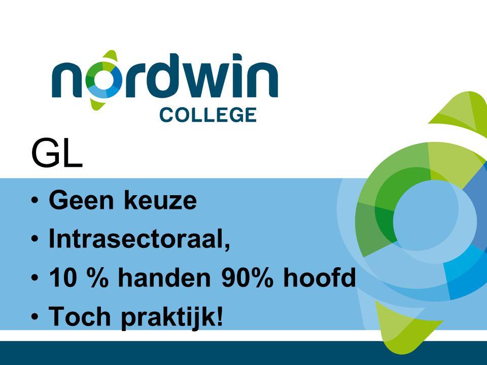 GL Geen keuze Intrasectoraal, 10 % handen 90% hoofd Toch praktijk!