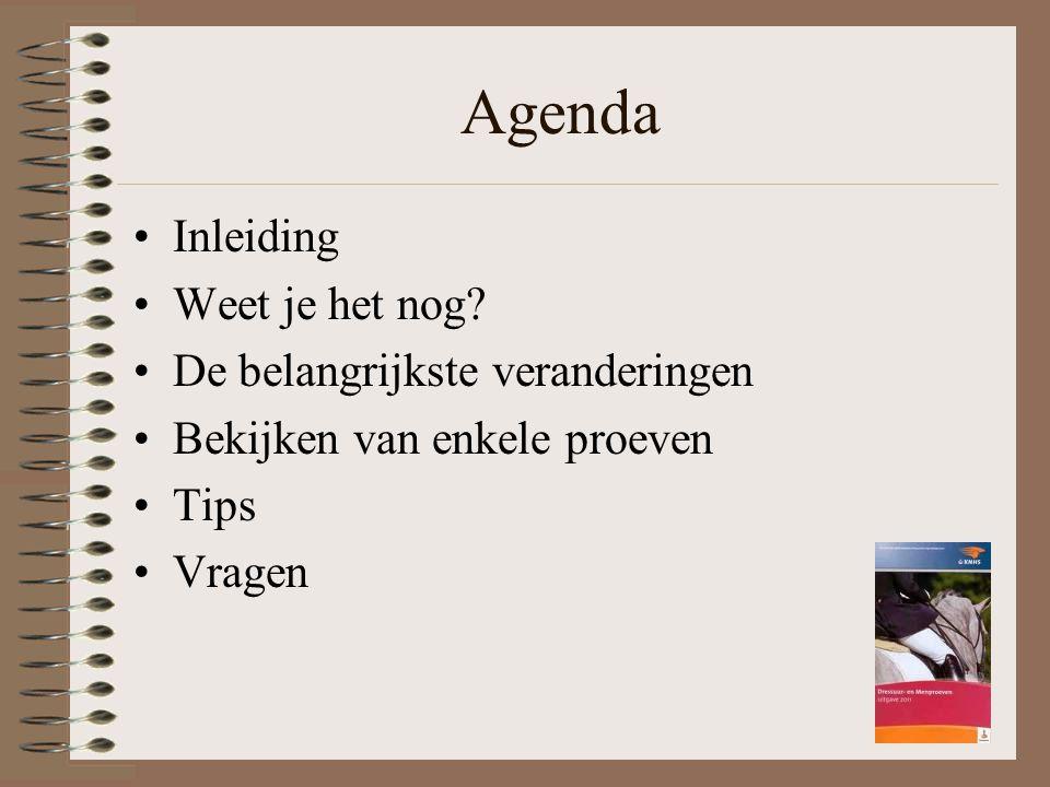 Agenda Inleiding Weet je het nog? De belangrijkste veranderingen Bekijken van enkele proeven Tips Vragen