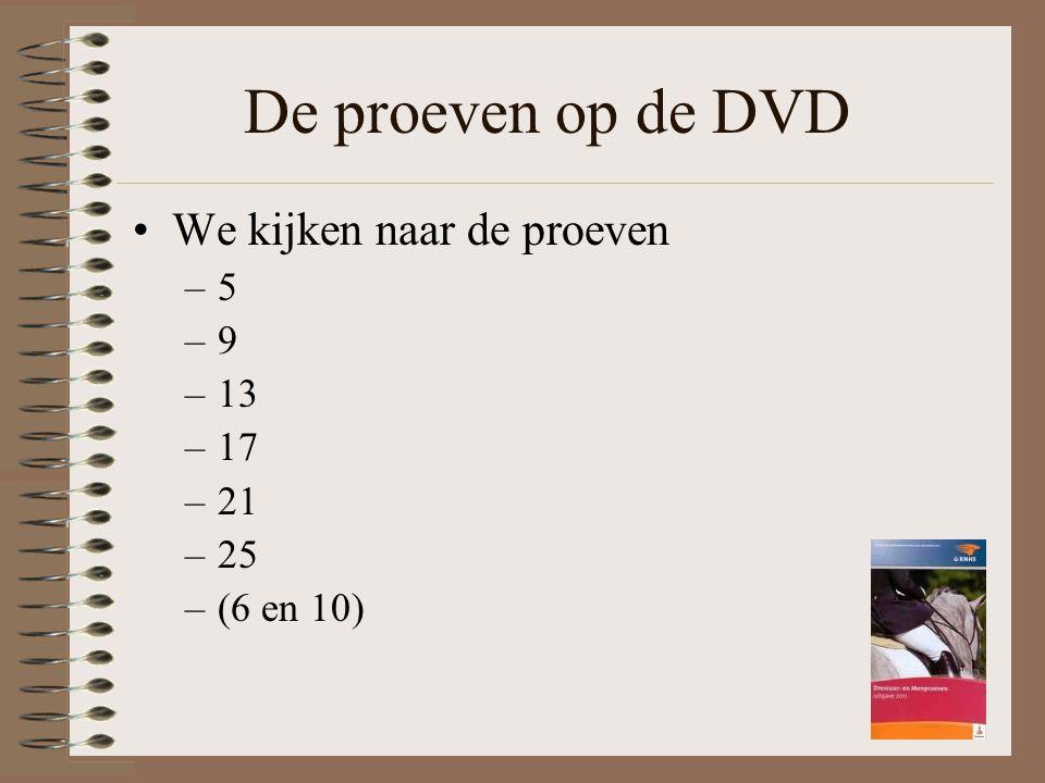 De proeven op de DVD We kijken naar de proeven –5 –9 –13 –17 –21 –25 –(6 en 10)