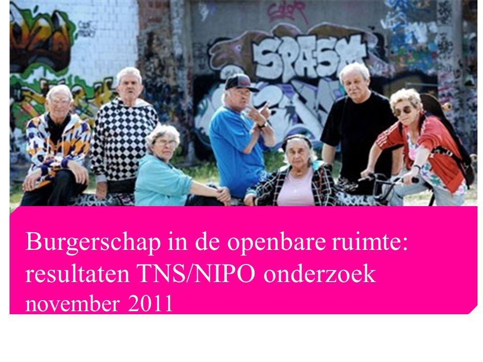 Burgerschap in de openbare ruimte: resultaten TNS/NIPO onderzoek november 2011