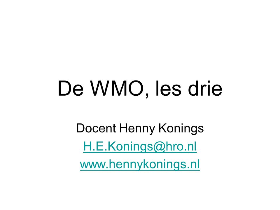Enkele site's http://wmo.startpagina.nl www.hennykonings.nl www.ciz.nl www.bestuursacademie.nl www.rotterdam/nl/wmo www.bureaujeugdzorg.info.nl www.persaldohulpgids.nl www.pgb.nl