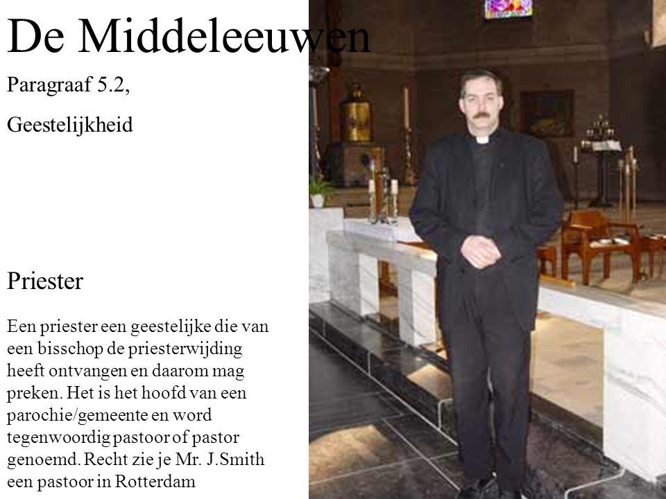 Een priester een geestelijke die van een bisschop de priesterwijding heeft ontvangen en daarom mag preken.