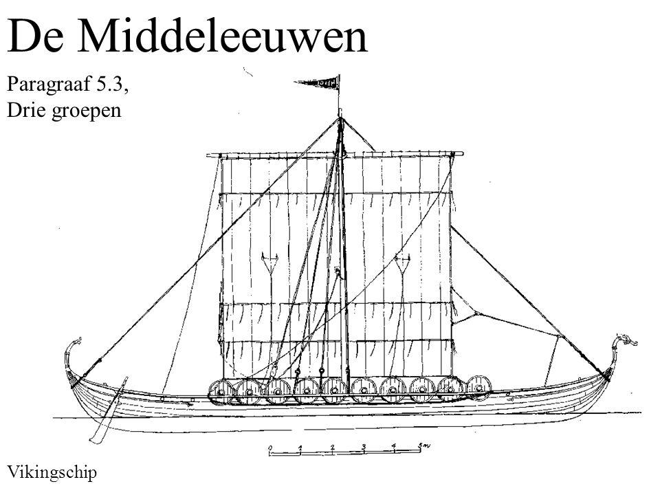 De Middeleeuwen Paragraaf 5.3, Drie groepen Vikingschip