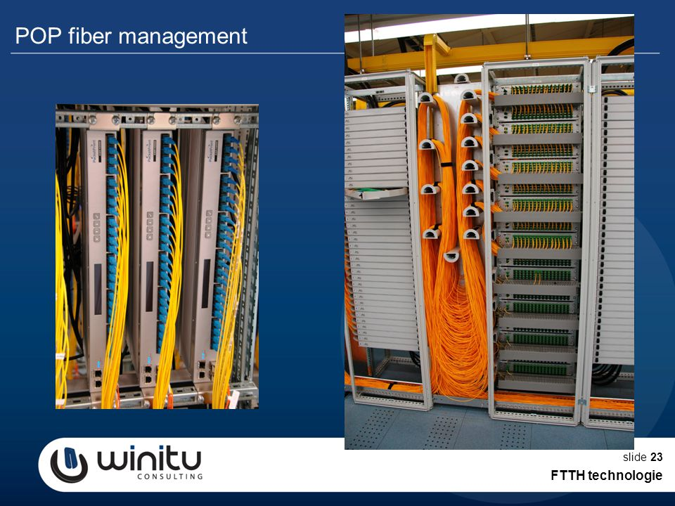 slide23 POP fiber management FTTH technologie