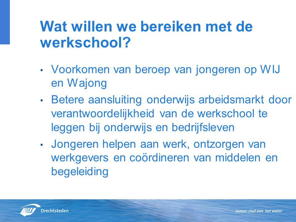 Wat willen we bereiken met de werkschool.