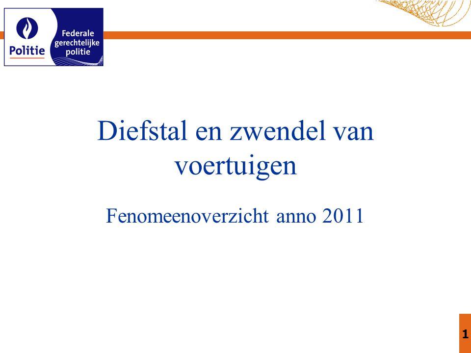 1 Diefstal en zwendelvan voertuigen Fenomeenoverzicht anno 2011