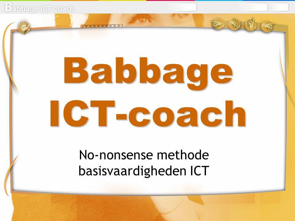 Algemene karakteristiek Methode ICT-basisvaardigheden Structuur gebaseerd op meetpunten Opvullen hiaten in kennis en vaardigheden Instaptoets per module Software + 1 boek Boek is zowel oefenboek als naslagwerk.