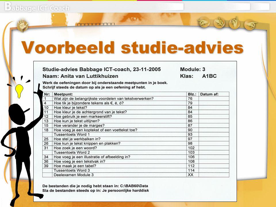 Voorbeeld studie-advies