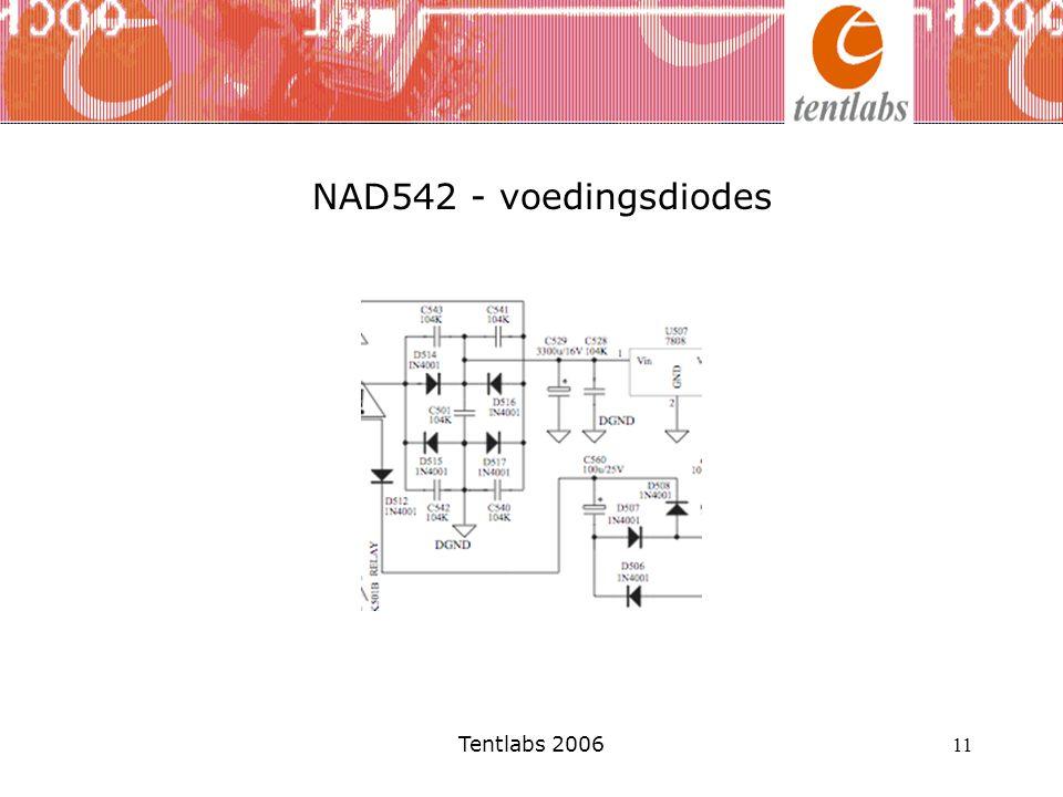 Tentlabs 2006 11 NAD542 - voedingsdiodes