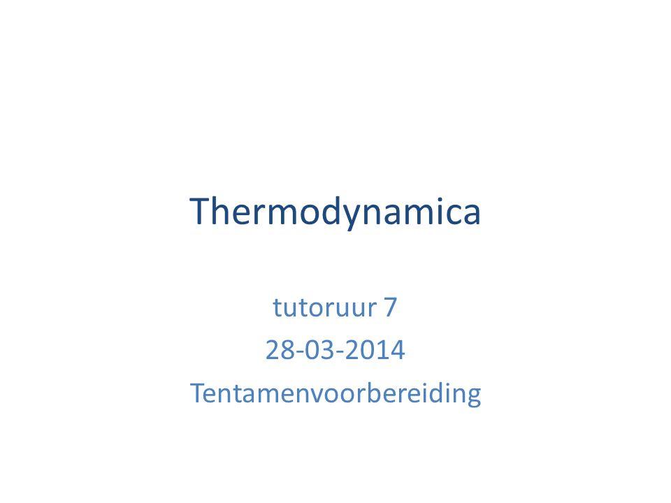 Hoe haal je het tentamen thermodynamica.