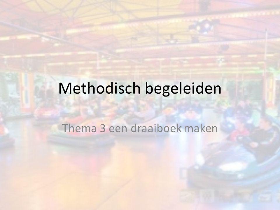 Methodisch begeleiden Thema 3 een draaiboek maken