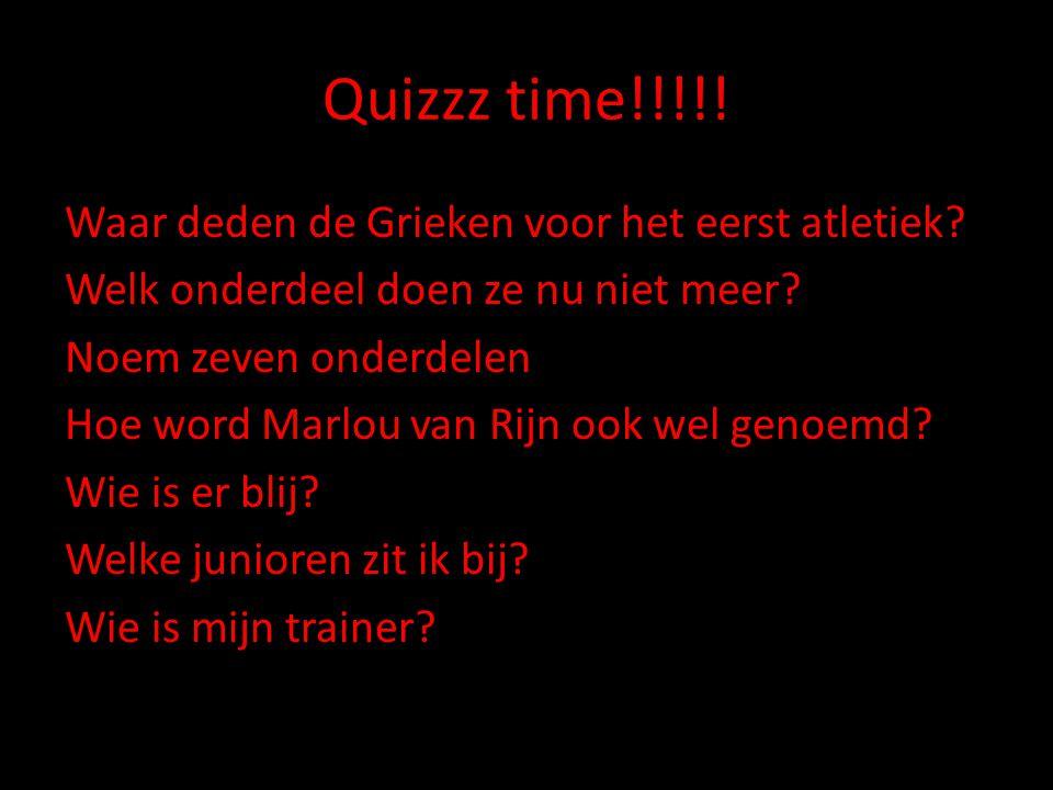 Quizzz time!!!!.Waar deden de Grieken voor het eerst atletiek.
