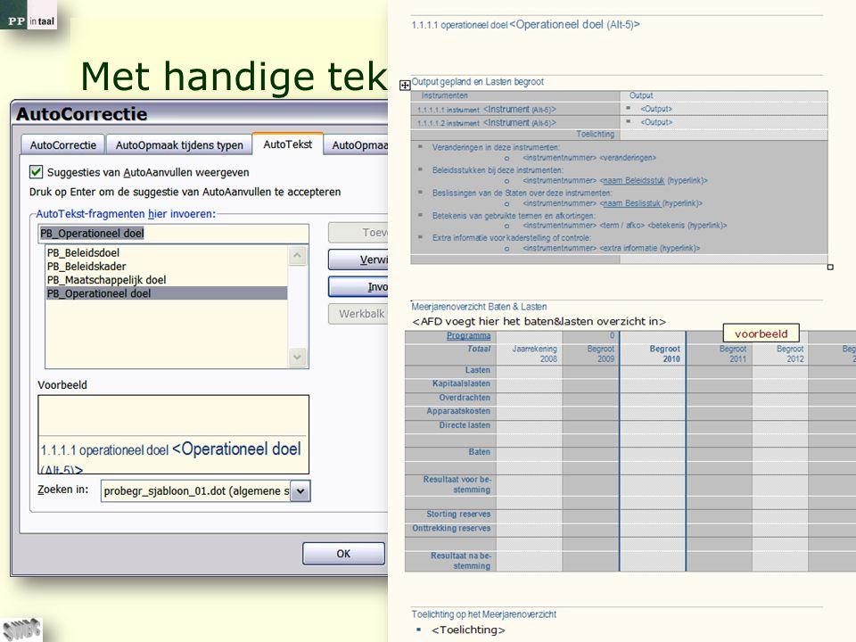 © PP in taal 23 Met handige tekstblokken