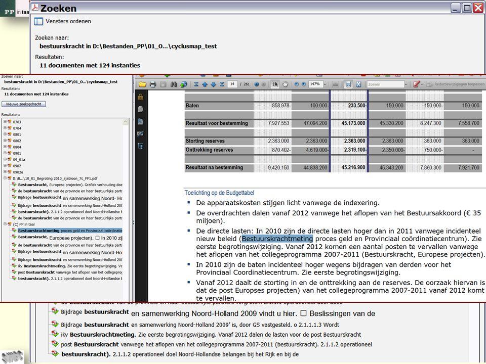 © PP in taal 32 Of u zoekt binnen versies van een document