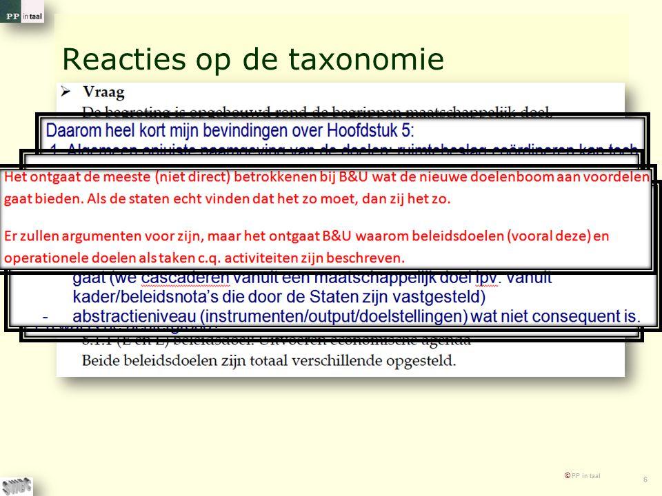 © PP in taal 6 Reacties op de taxonomie