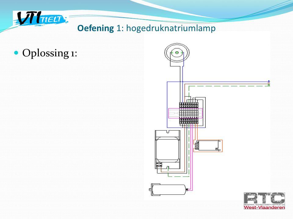 Oplossing 1: Oefening 1: hogedruknatriumlamp