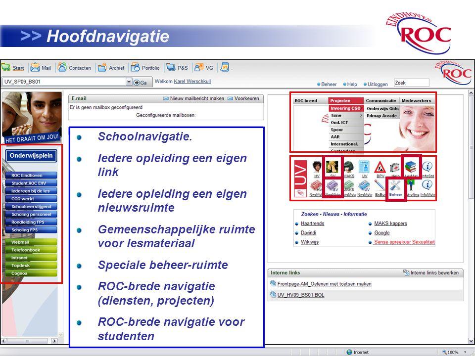13 >> Hoofdnavigatie Schoolnavigatie.