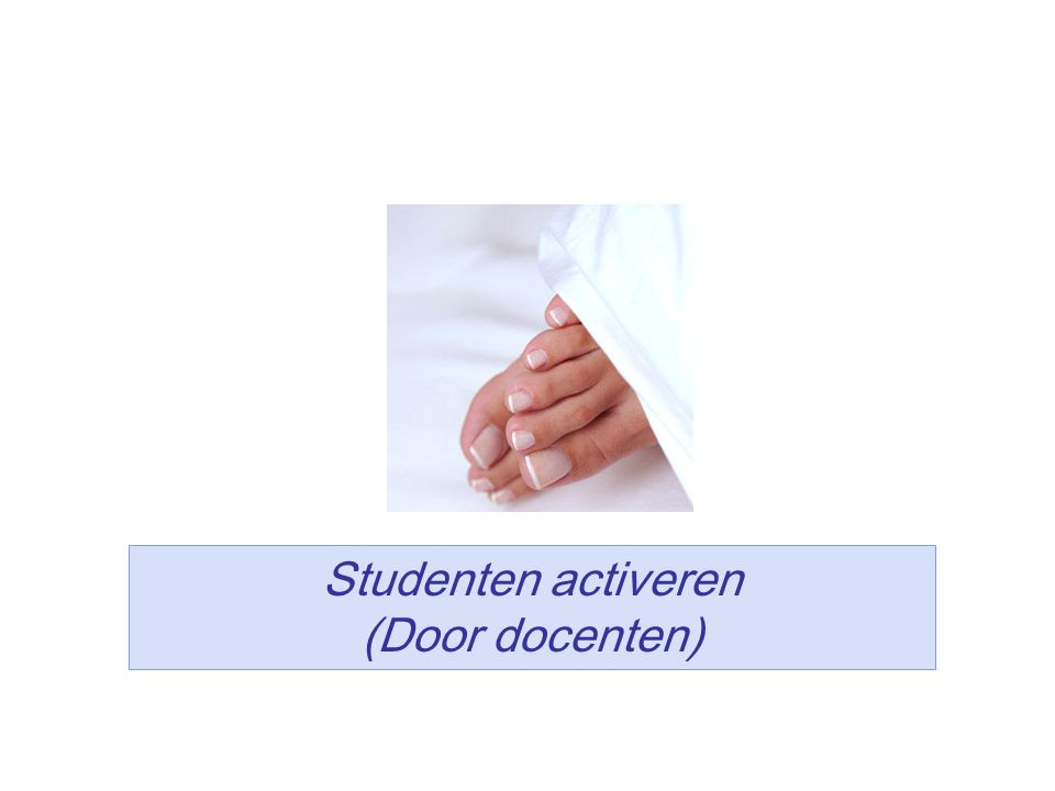 20 Studenten activeren (Door docenten)