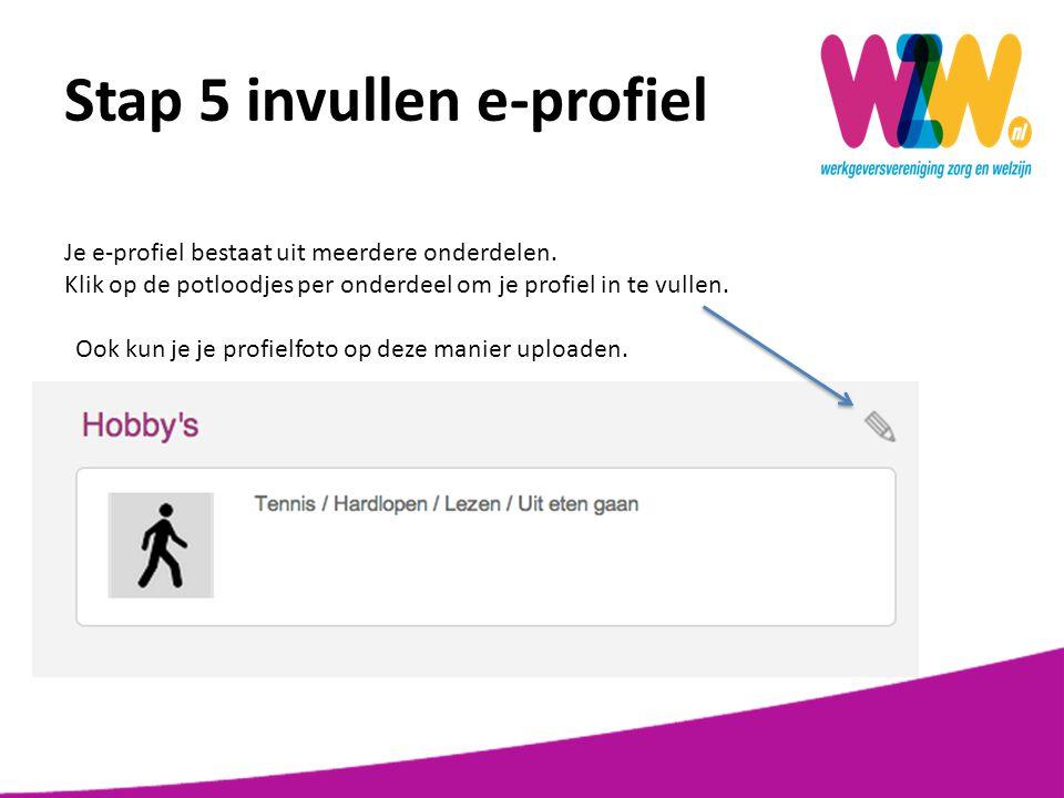 Stap 5 invullen e-profiel Contact: hier vind je onze contactgegevens.