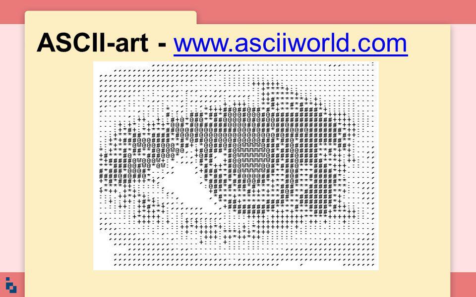 ASCII-art - www.asciiworld.comwww.asciiworld.com