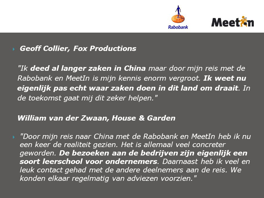  Geoff Collier, Fox Productions