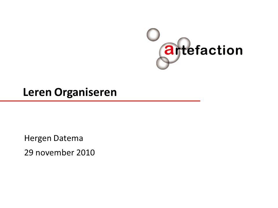 Leren Organiseren Hergen Datema 29 november 2010