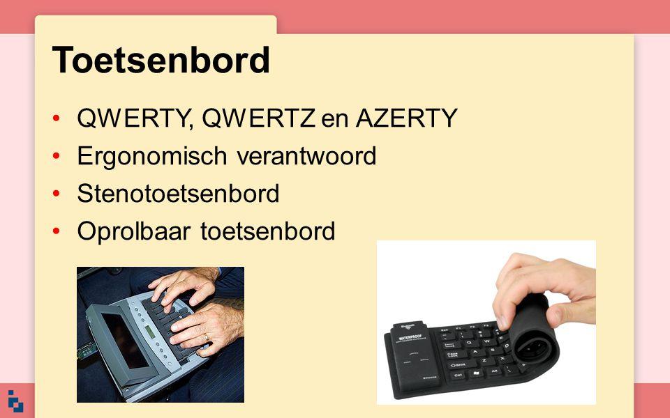 Toetsenbord QWERTY, QWERTZ en AZERTY Ergonomisch verantwoord Stenotoetsenbord Oprolbaar toetsenbord