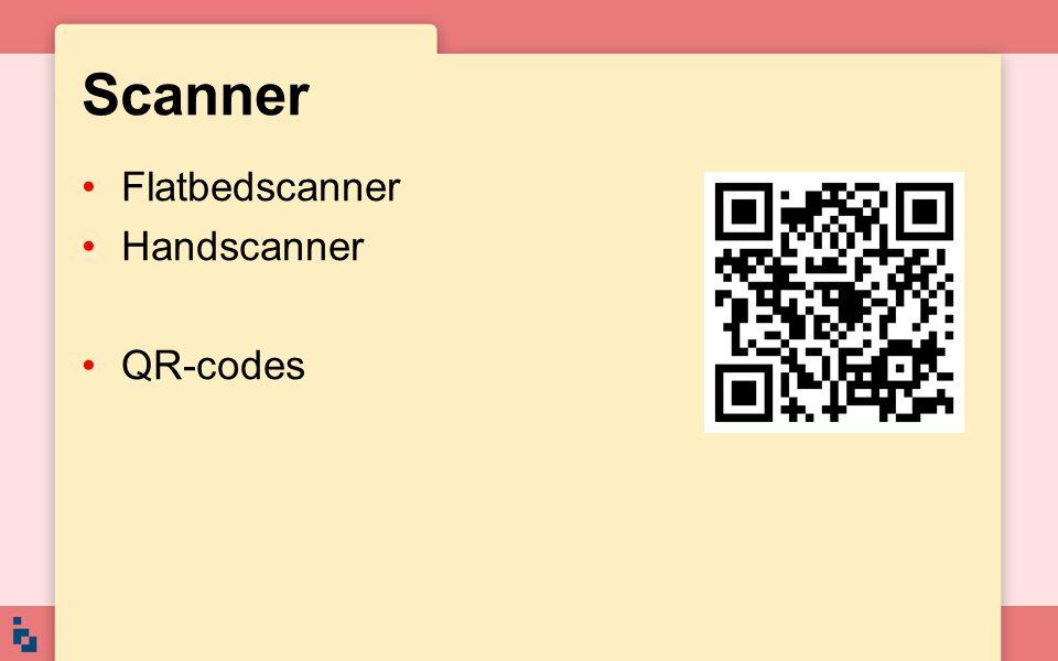 Scanner Flatbedscanner Handscanner QR-codes