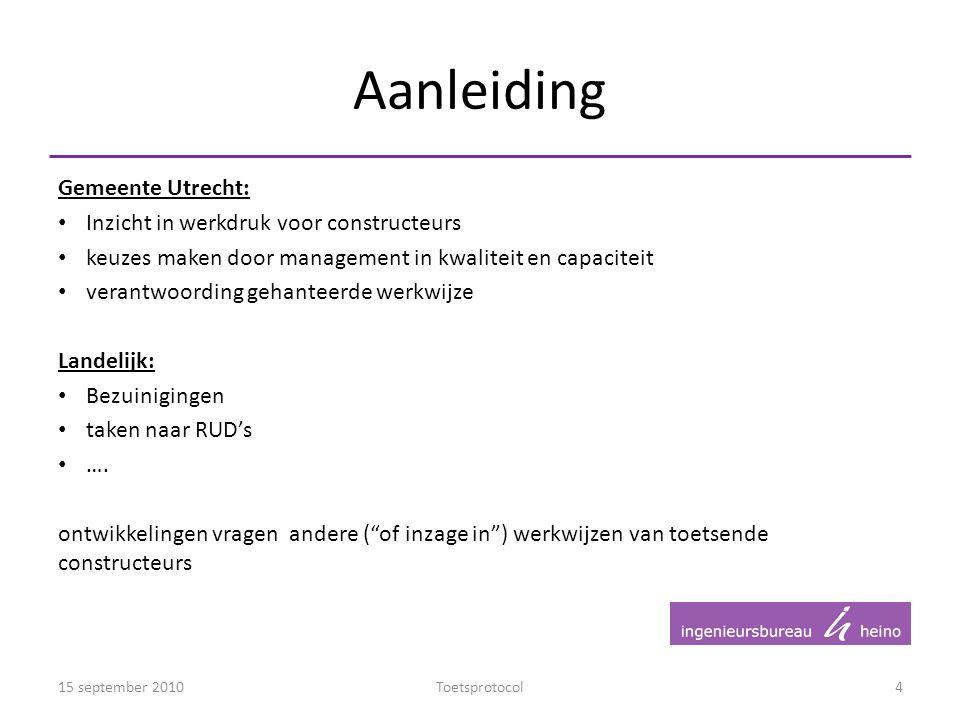 Aanleiding Gemeente Utrecht: Inzicht in werkdruk voor constructeurs keuzes maken door management in kwaliteit en capaciteit verantwoording gehanteerde