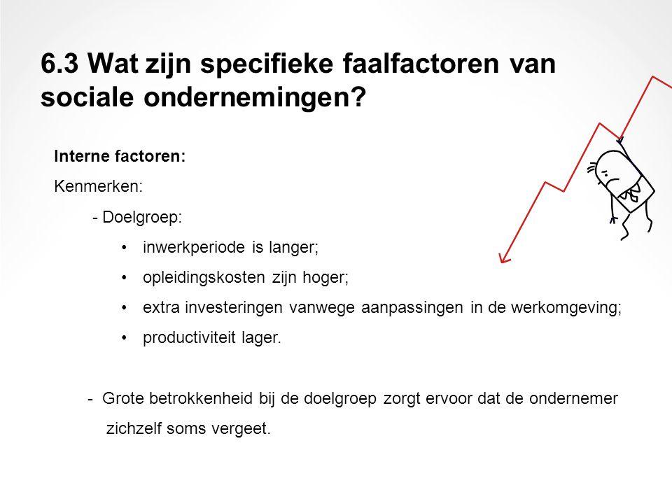 Interne factoren: Kenmerken: - Doelgroep: inwerkperiode is langer; opleidingskosten zijn hoger; extra investeringen vanwege aanpassingen in de werkomg
