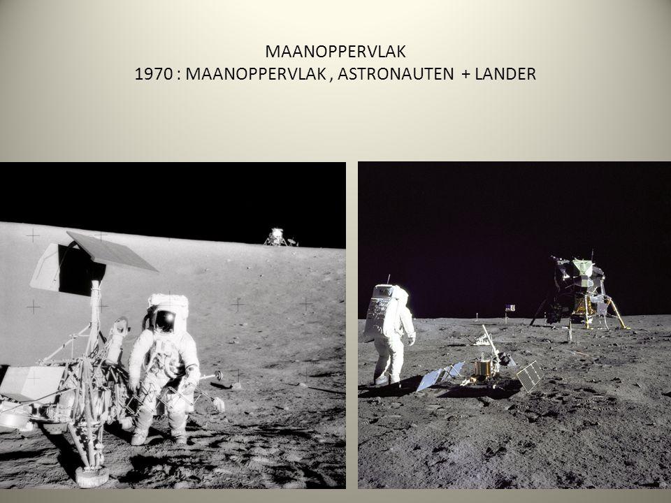 MAANOPPERVLAK 1970 : MAANOPPERVLAK, ASTRONAUTEN + LANDER