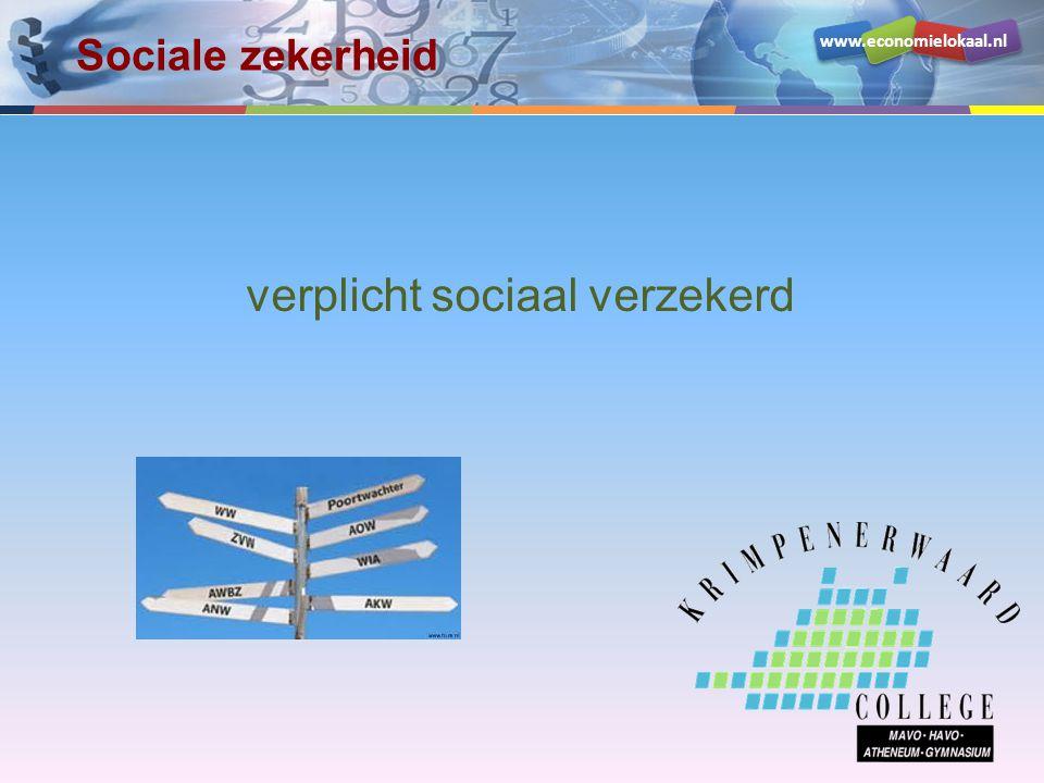www.economielokaal.nl verplicht sociaal verzekerd Sociale zekerheid