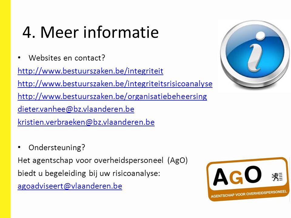 Websites en contact? http://www.bestuurszaken.be/integriteit http://www.bestuurszaken.be/integriteitsrisicoanalyse http://www.bestuurszaken.be/organis