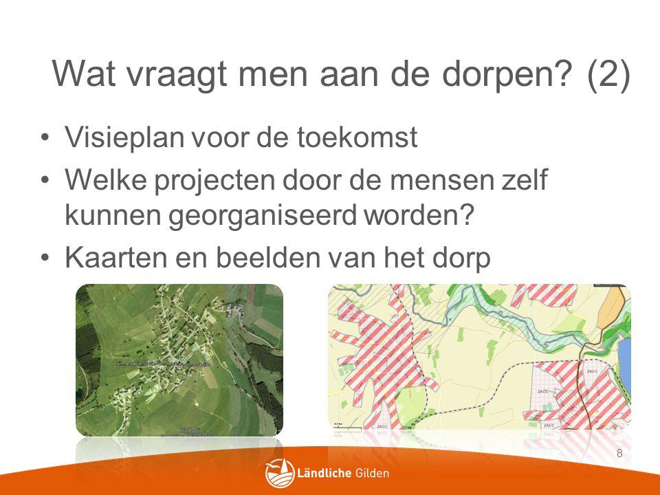 Visieplan voor de toekomst Welke projecten door de mensen zelf kunnen georganiseerd worden.