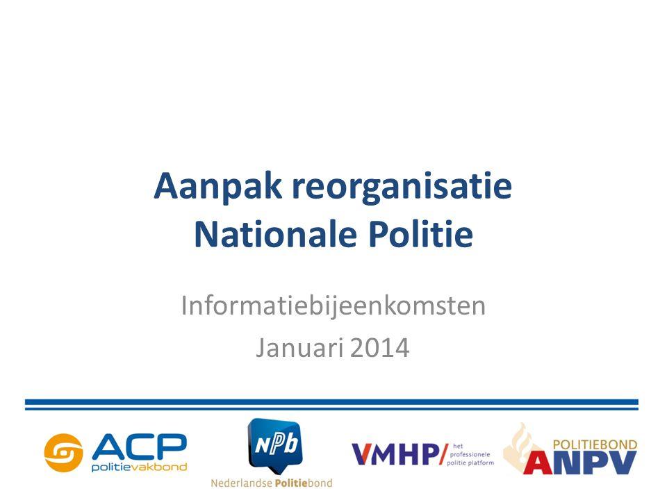 Doelstelling bijeenkomst Informatie over verloop van het proces.