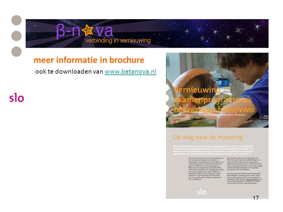 meer informatie in brochure ook te downloaden van www.betanova.nlwww.betanova.nl 17