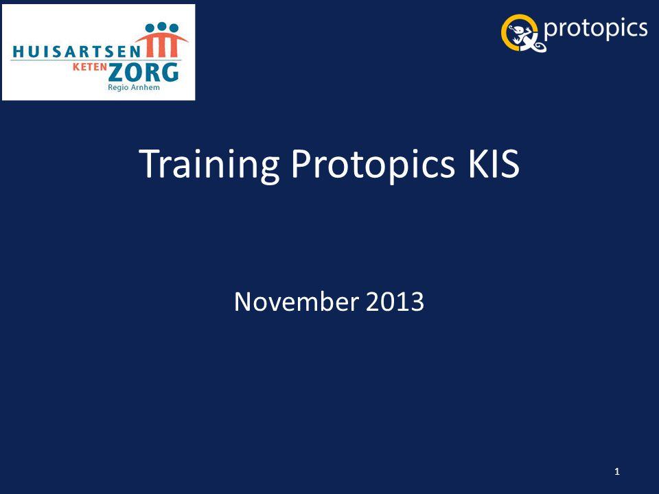 Training Protopics KIS November 2013 1