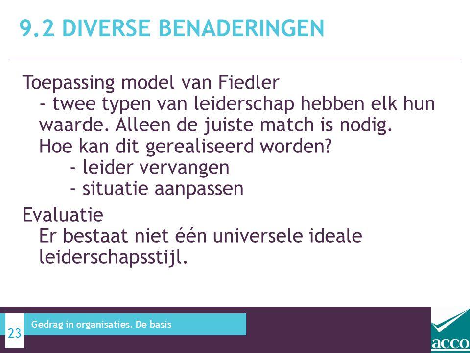 Toepassing model van Fiedler - twee typen van leiderschap hebben elk hun waarde. Alleen de juiste match is nodig. Hoe kan dit gerealiseerd worden? - l