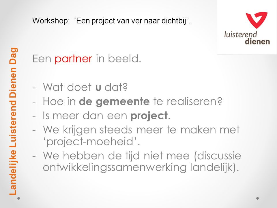 Project Partner Gemeente.