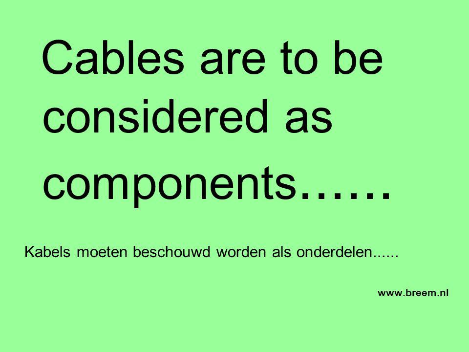 Cables are to be considered as components......Kabels moeten beschouwd worden als onderdelen......