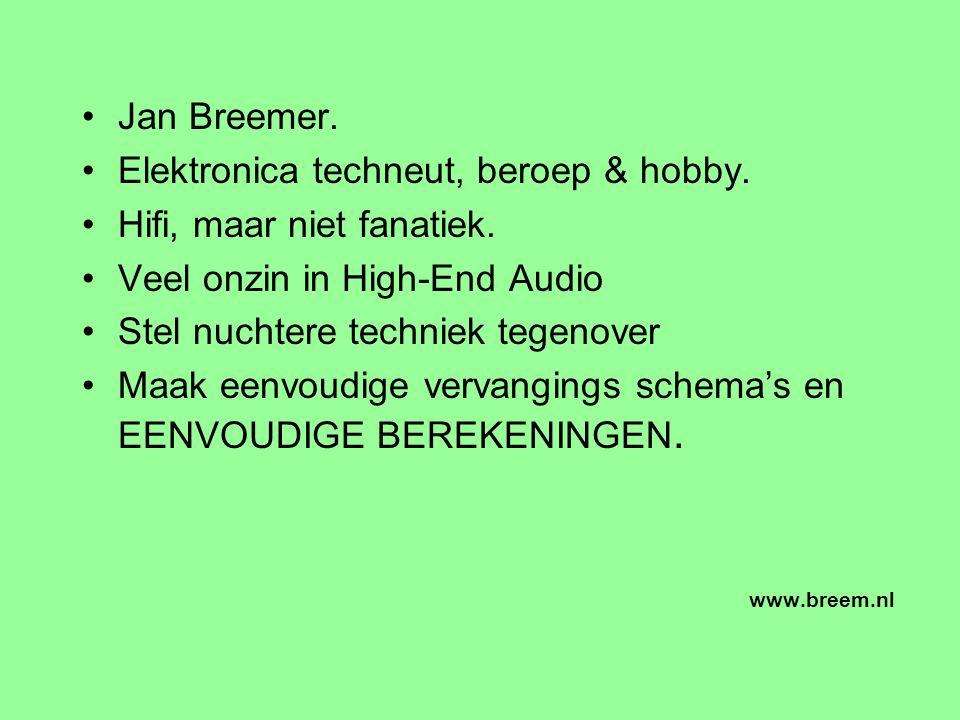 Jan Breemer.Elektronica techneut, beroep & hobby.