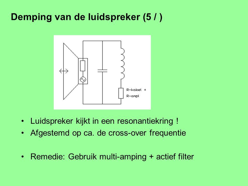 Demping van de luidspreker (5 / ) Een eenvoudig wisselfilter.